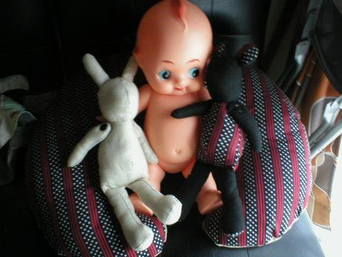 授乳枕とヌイグルミ